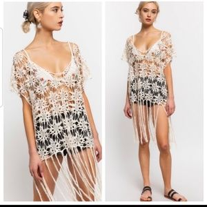 Other - NEW Coachella Crochet Floral Coverup/Top